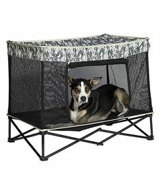 Love this Digital Camo Quik Shade Medium Instant Pet Kennel with Mesh Bed on #zulily! #zulilyfinds
