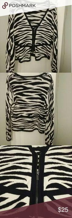 CACHE  Zebra Print Sweater GREAT CONDITION! Cache Sweaters