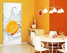 #TürTapete Frische #Orange #Küche #kitchen #essen #food #kochen #Appetit