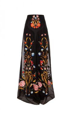 0e869340426 Temperley London Long Toledo Skirt in Black (Black Mix) - Lyst Maxi Skirt  Black
