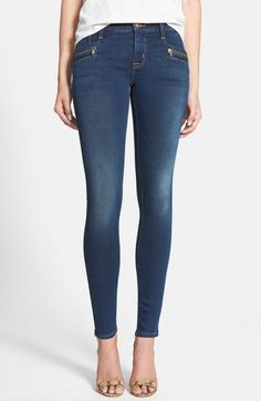 Hudson Jeans Spark Zip Detail Super Skinny Jeans Ignorance Is Bliss | Pants, Clothing and Workwear