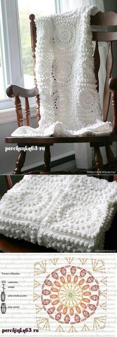 Resultado de imagen para mantas bebe crochet patrones | arts, crafts ...