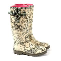 Toile wellies