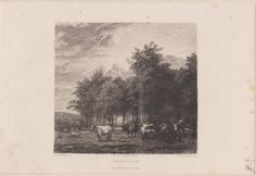 Antique Print Livestock Cattle Domestic Animals Cattle Herd (D67) via Grandpa's Market. Click on the image to see more!