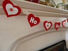 Heart Felt Christmas Bunting - Ho, Ho, Ho!