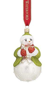 Waterford Lismore Leo Pearl Snowman Ornament