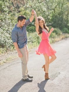 Engagement Photo- Nathan is always wanting to randomly dance so this would be cute