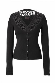 Vixen - Cardigan black Lace