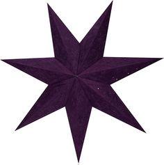 Adventsstjärna i papper, Velvet 70 cm, lila, 3502290