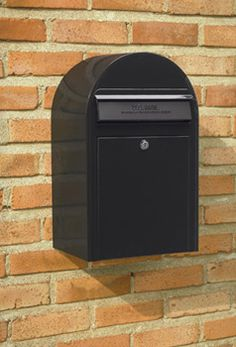 These front access Bobi Classic Wall Mount Mailboxes are secure residential mailboxes that will help prevent mail and identity theft, yet still look great. Wall Mount Mailbox, Mounted Mailbox, Residential Mailboxes, Black Mailbox, Venice House, Filing Cabinet, Home Accessories, House Design, Steel