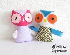 baby owl ribbon tag sewing pattern 3