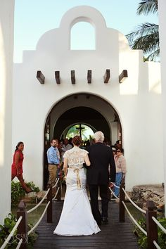 "Wedding Playa del Carmen at the famous  ""Capilla de Nuestra Señora del Carmen"" on 5th Avenue. Gorgeous place for a ceremony!  Mexico wedding photographers Del Sol Photography"