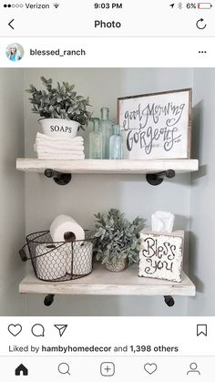 Rustic farmhouse interior design ideas for your bathroom. Simple and unique ideas to inspire beautiful style and home decor to your house. #interiordesign #homedecoratingtips #homedecorating #bathroomideasandtips #cutebathroomideasforsmallbathrooms