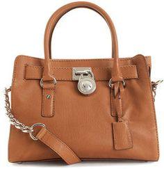 MK tan satchel