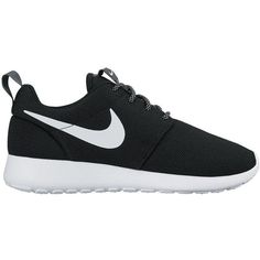 Nike Roshe One ($105) ❤ liked on Polyvore featuring shoes, athletic shoes, sneakers, black shoes, nike footwear, kohl shoes, nike athletic shoes and nike shoes