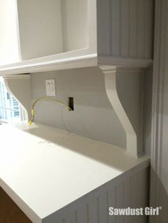 Easy DIY Corbels are a great way to upgrade cabinets and make over your kitchen with 100% Natural CeCe Caldwell's Chalk + Clay Paints products from Vintage Bette.