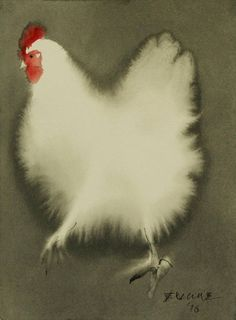 Beautiful Ink Paintings of Chickens – Fubiz Media