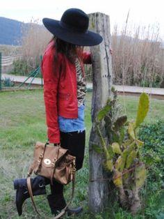 gabriellemode Outfit   Primavera 2012. Combinar Gorro-boina Negra Zara, Cómo vestirse y combinar según gabriellemode el 27-4-2012