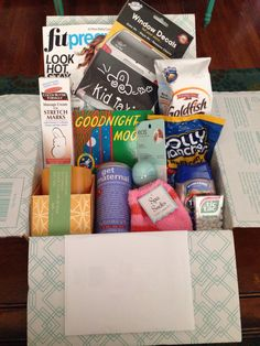 Pregnancy care package for new pregnant friend!!! All the essentials. Lock In Life Blog.