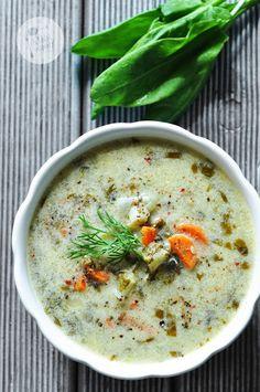 Kardamonovy: Zupa szczawiowa Great Recipes, Soup Recipes, Cooking Recipes, Healthy Recipes, Delicious Recipes, Recipies, Vegan Gains, Easter Dishes, Polish Recipes