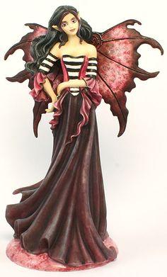 Magenta Goth Fairy Figurine by Amy Brown