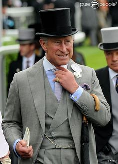 A wonderfully cut morning suit in a handsome soft grey - as ever the Prince of Wales sets a marvelous example as to how its done.