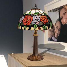Lámpara de mesa Tiffany Rosy