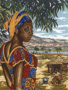 african+american+quilt+guilds+   AFRICA NEW COUNTED CROSS STITCH KIT
