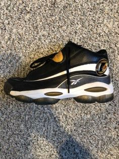 65fc71c73be Details about RARE Reebok Allen Iverson The Answer DMX Basketball Shoes  Black Size 10
