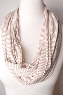 simple striped scarf