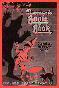 1923 Halloween issue Dennison Bogie Book Annual Edition from gaspee-sales on Ruby Lane Retro Halloween, Vintage Halloween Images, Halloween Prints, Halloween Books, Halloween Items, Halloween Signs, Halloween Pictures, Holidays Halloween, Spooky Halloween