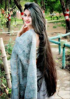 Long Silky Hair, Long Black Hair, Very Long Hair, Indian Long Hair Braid, Braids For Long Hair, Permed Hairstyles, Indian Hairstyles, Beautiful Long Hair, Gorgeous Hair