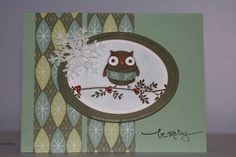Christmas owl by WendyRN    I wonder if I can duplicate it, or nearly so? I just might be able to.  Really need to get on the cards this week.