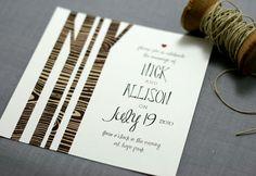 Woodland Wedding Invitation by deaandbean