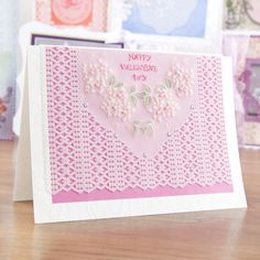 #ValentinesDay card design from Pergamano! Shop the full #craft range now: http://www.createandcraft.tv/search/pergamano?fh_location=//CreateAndCraft/en_GB/$s=pergamano&gs=pergamano #papercraft #cardmaking