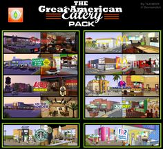 TLK4EVR@deviantART - The Great American Eatery Pack #Sims3