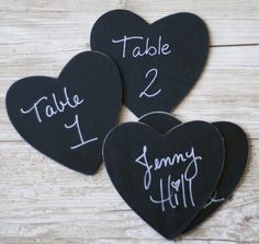 Chalkboard Table Numbers Rustic Wedding Decor item by braggingbags, $22.50