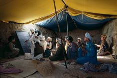 Just Write, school inside a tent in Afghanistan | Steve McCurry