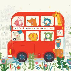 The Word of Illustration: Emma Haines of Cut and Stick Design Drawing For Kids, Painting For Kids, Art For Kids, Kids Patterns, Print Patterns, London Bus, Children's Book Illustration, Digital Illustration, Kids Prints