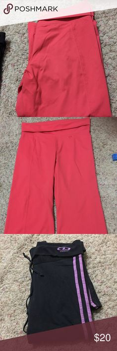 Bundle pants The corals one is old navy brand is NWOT sz 4 , the black with purple stripe in used condition dkny brand sz s DKNY Pants Jumpsuits & Rompers