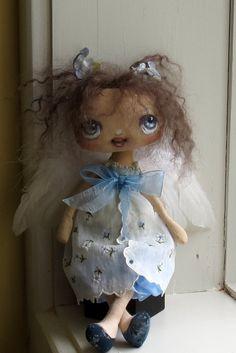 Little cloth doll Angel Fairy. $120.00, via Etsy.