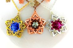PDF-file Beading Pattern AVA Maria Star Pendant Necklace