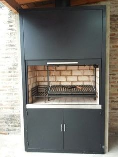 Barbecue, Outdoor Barbeque, Bbq Grill, Parrilla Interior, Indoor Bbq, Argentine Grill, Outdoor Grill Station, Four A Pizza, Fake Fireplace