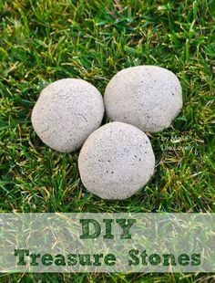 DIY Treasure Stones. They look like rocks, but kids can break them open and find a toy inside! Perfect party game or favor!