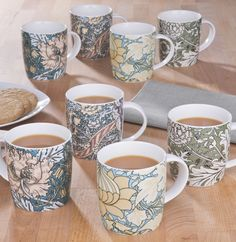 8 Mug Set Coffee Glass Gift Kitchen Cook Tableware Drink Cup Serving Dinning