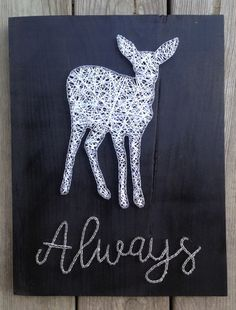 Harry Potter String Art/ Doe Patronus/ Harry by PricklyPearCo
