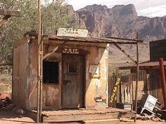This is a ghost town picture of an old run down jail. It was taken at Goldfield ghost town in Arizona.