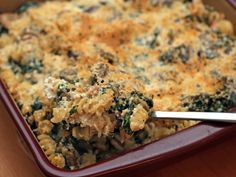 Martha Stewart's Chicken and Kale pasta bake