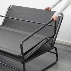 IKEA HAMMARN sofa-bed Readily converts into a roomy bed for two. easy to lift and move. Futons, Rearranging Furniture, Cool Furniture, Sofa Cama Ikea, Van Bed, Fold Out Beds, Built In Sofa, Beds For Small Spaces, Quartos