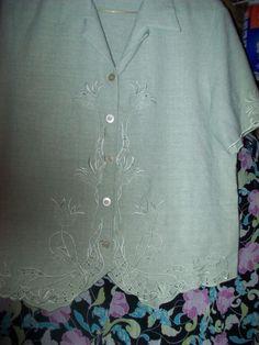 14 Alfred Dunner 2 pc Mint Green Pant Suit bust 23 L24 Pants W34-40 L27 Side Poc #AlfredDunner #PantSets